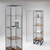 Seletti Narrow Wire Mesh Cabinet