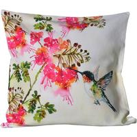 Hummingbird Print Cushion Cover