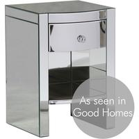 Curvy Mirrored Bedside Table
