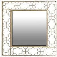 Gold Cut Out Square Mirror by The Orchard