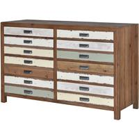 Recycled Fir Eight Drawer Chest