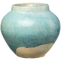 Pale Blue Ceramic Jar