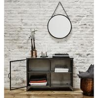 Distressed Metal Cabinet in Black
