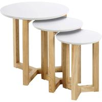 Osaka Modern Nest of Tables Oak with White Top