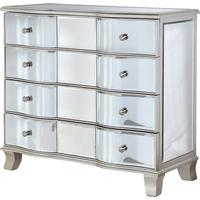 Venetian Bow Fronted 4 Drawer Chest