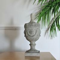 Wood Effect Ornate Urn