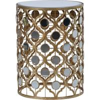 Mirror-Topped Side Table in Gold by Out There Interiors