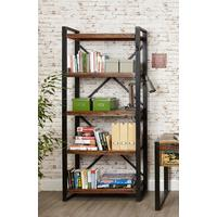 Shoreditch Large Open Bookcase Reclaimed Wood