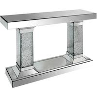 Twin Pillar Mirrored Console