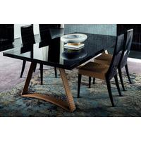 Nightfly dining table and square chairs by Icona Furniture