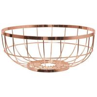Open Grid Fruit Basket - Copper by Red Candy