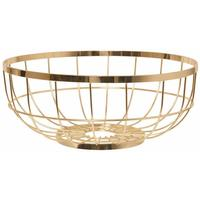 Present Time Open Grid Fruit Basket - Gold