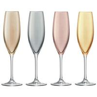 LSA Polka Champagne Glasses - Metallic - Set of 4 by Red Candy