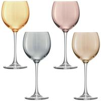 LSA Polka Wine Glasses - Metallic - Set of 4
