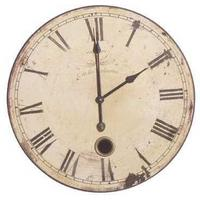 Round French Wall Clock Vintage Design