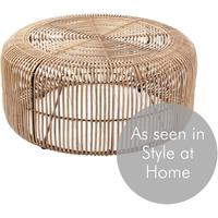 Round Rattan Coffee Table by Out There Interiors
