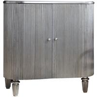 Jeeves Drinks Cabinet Silver  by Gallery Direct