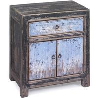 Bedside Cabinet in Blue & Black
