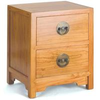Ming Two Drawer Chest in Light Elm