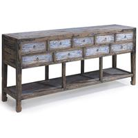 Multidrawer Console, Blue and Black by Shimu