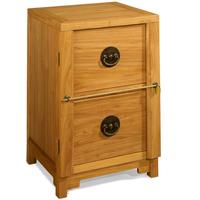 Two Drawer Filing Cabinet in Light Elm