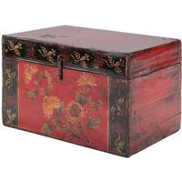 Painted Box with Flowers by Shimu
