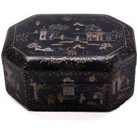 Black Lacquer Painted Box by Shimu