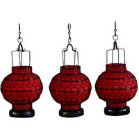 Wire and Canvas Lantern - Red Ball by Shimu