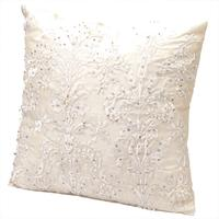 Beaded Cushion in Cream