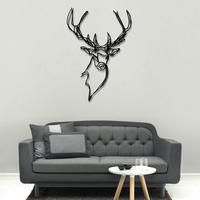 Stag Head Wooden Wall Art