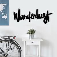 Wanderlust Wooden Sign