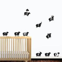 Counting Sheep Wall Sticker Set