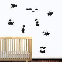 Pigs Might Fly Wall Sticker Set