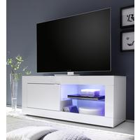 Urbino Collection Small TV Unit with Optional LED Spot Light -  Gloss White Finish by Andrew Piggott Contemporary Furniture
