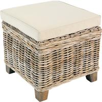 Washed Rattan Storage Stool
