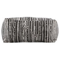Holst Broken Lines Printed Pouffe, Tonal Grey