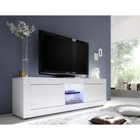 Urbino Collection Big TV Unit Including Led Spot - White Gloss Lacquer by Andrew Piggott Contemporary Furniture