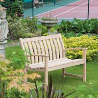 Roble Bella Vista Low Back Bench