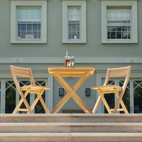 Roble Folding Patio Set for Two by Out There Interiors