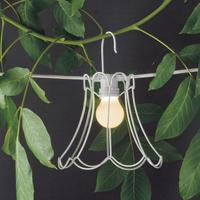 Wire Frame Tulip Lampshade - White by Out There Interiors