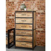 Upcycled Industrial Vintage Mintis Tall Chest of Drawers  by Verty furniture