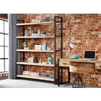Up-cycled Industrial Mintis Extra Large Open Bookcase