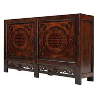 Painted Sideboard with Good Luck Symbols by Shimu