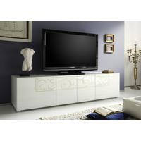 Padua TV Stand - White High Gloss Lacquer