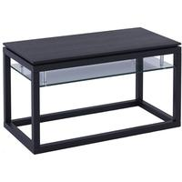 Cordoba Small TV Unit with Glass Shelf - Black Wenge