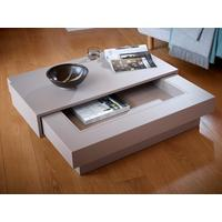 Coffee table in matt stone lacquer and walnut veneer - Marlow range