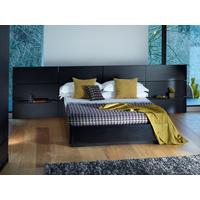 Cordoba Modern Kingsize Bed - Black Wenge with Extended Headboard