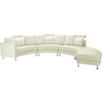 ROTUNDE Modern Round Sectional Sofa Leather