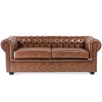 CHESTERFIELD Brown Vintage Sofa