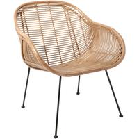 Rattan Scoop Armchair